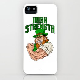 Irish Strength - Fitness Leprechaun Training iPhone Case