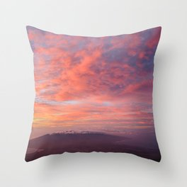 Haleakala Summit Sunset Throw Pillow