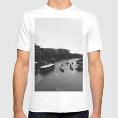 Grand Canal White MEDIUM Mens Fitted Tee