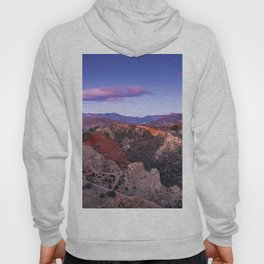 """Mountain light"". Purple clouds at sunset Hoody"
