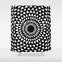 meditation Shower Curtains featuring Meditation by Susanna