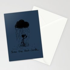 Turn that cloud, upside down! Stationery Cards