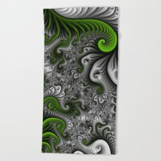 Fantasy World, abstract Fractal Art Beach Towel
