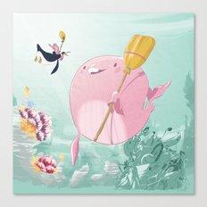 Chloé underwater Canvas Print