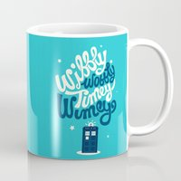risa rodil Mugs featuring Wibbly Wobbly Timey Wimey by Risa Rodil