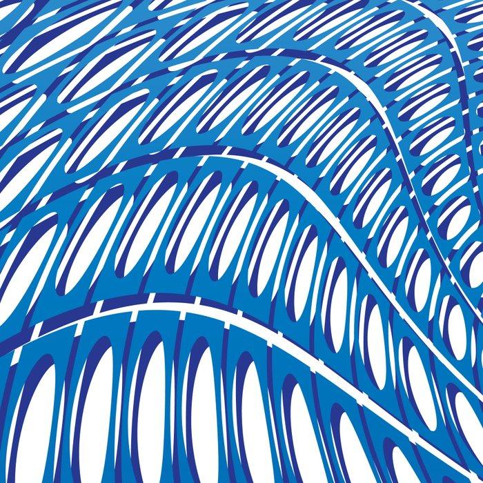 Optical Illusion in blue Leggings