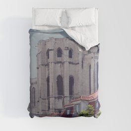 Carmo Convent Gothic Architecture, Lisbon, Portugal Comforters