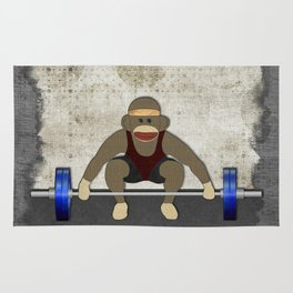Sock Monkey Bodybuilder Rug