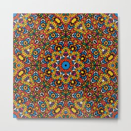 Arabesque kaleidoscopic Mosaic G518 Metal Print