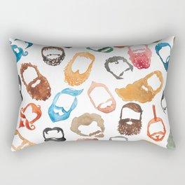 Beards on Beards Rectangular Pillow
