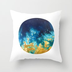 Abstract planet Throw Pillow