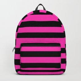 Hot Pink and Black Stripes Backpack