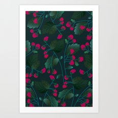 Dark Berries Art Print