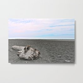 Black Sand Color Sky Metal Print