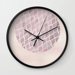 Bloomartgallery_Modern boho rosegold abstract moon circle pattern Wall Clock
