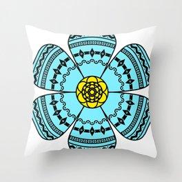 Hippie Geometric Flower Throw Pillow