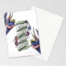 Eat Sleep Play Poop Stationery Cards