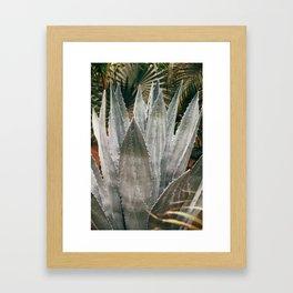 Deep Agave Framed Art Print