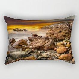 Rhoscolyn Coastline Sunset Rectangular Pillow