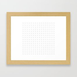 Cozy pattern Framed Art Print