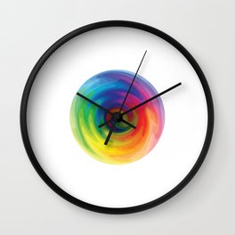 Abstract Art - Color Theory Wall Clock