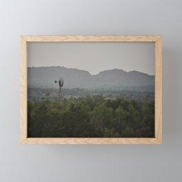 Old Windmill Framed Mini Art Print