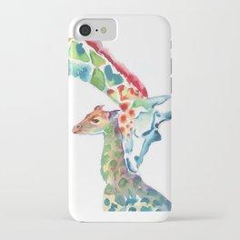 Mummy and Baby Giraffe College Dorm Decor iPhone Case