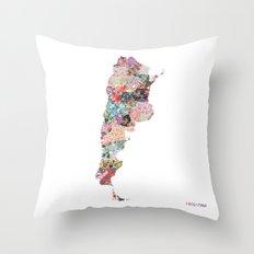 Argentina map Throw Pillow