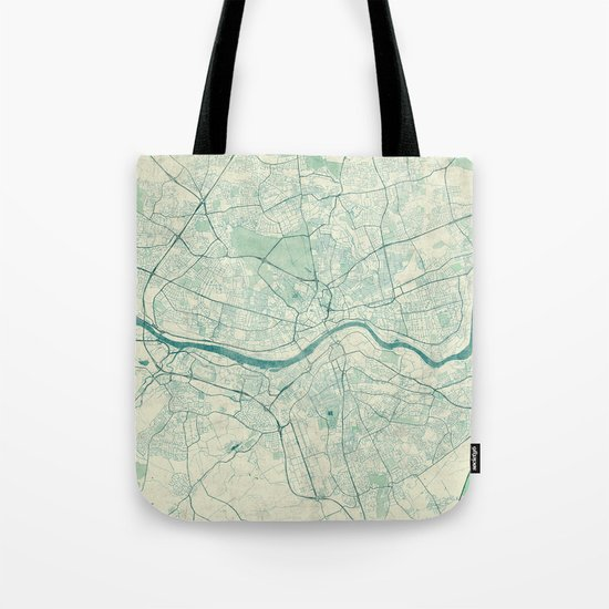 Newcastle upon Tyne Blue Vintage Tote Bag