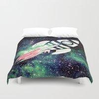 spaceship Duvet Covers featuring Spaceship by Cs025