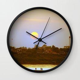 Sunset on Mekong Wall Clock