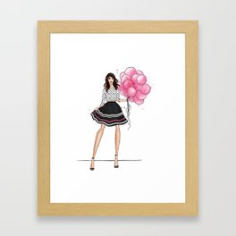Birthday girl Framed Art Print
