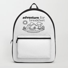 Adventure for Breakfast Graphic Art Backpack