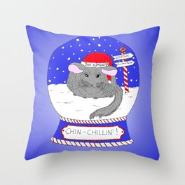 Chin-Chillin' Christmas Throw Pillow