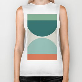 Abstract Geometric 20 Biker Tank