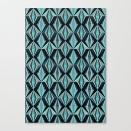 Angular, No. 02, Sapphire Canvas Print