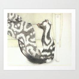 Living Interiors serie - Polecat Art Print