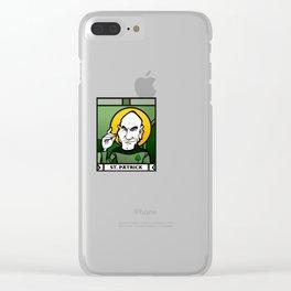 Saint Patrick Clear iPhone Case