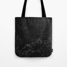 Black marble Tote Bag