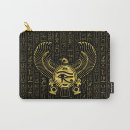 Egyptian Eye of Horus - Wadjet Gold and Black Carry-All Pouch