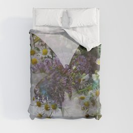 Beautiful floral butterfly Duvet Cover