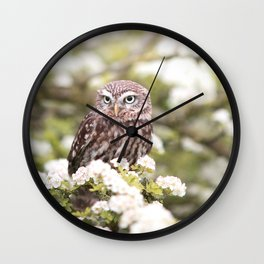 Chouette nature Wall Clock
