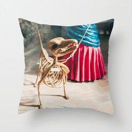 Skeleton dog Throw Pillow