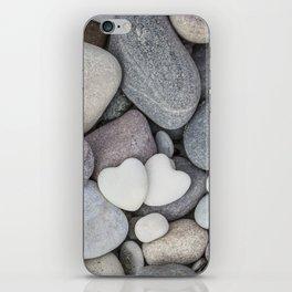 Heart Pebble Stone Mineral Love Symbol iPhone Skin