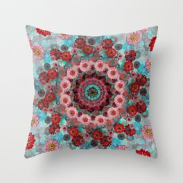 Happy background Throw Pillow