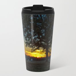 Columbia Va. Sunset in Oil Travel Mug