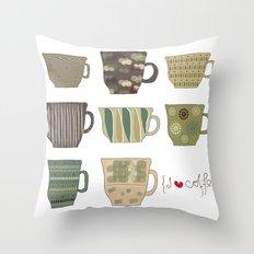 I {❤} Coffee Throw Pillow