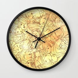 The Face of Many- Nomads Wall Clock