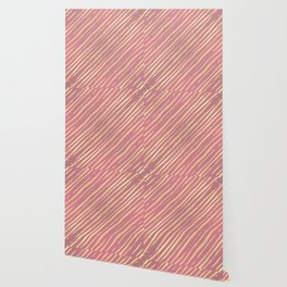 Pink Passion Gold Stripes Wallpaper