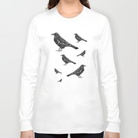 raven Long Sleeve T-shirts featuring Raven by Rebexi
